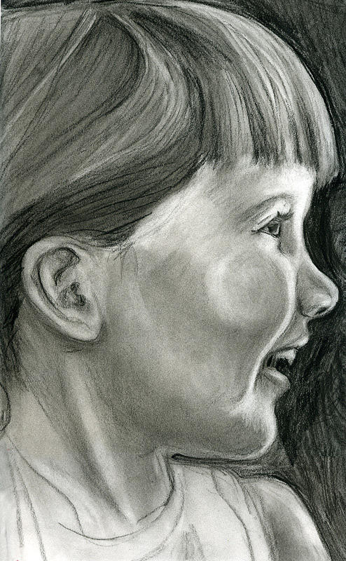 Child Drawing - Child by Aimee Johnson