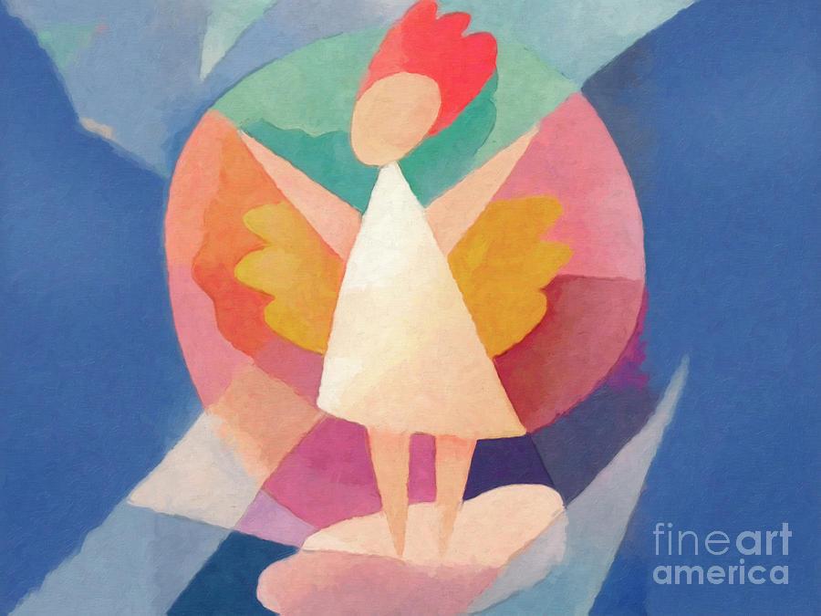 Childrens Room Painting - Child Angel by Lutz Baar
