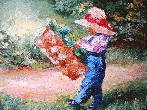 Child Painting by Debora Calicchia