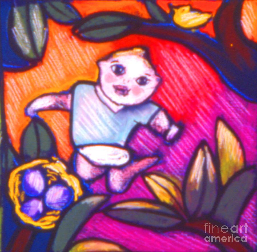 Children Painting - Child Gazing by Angelina Marino