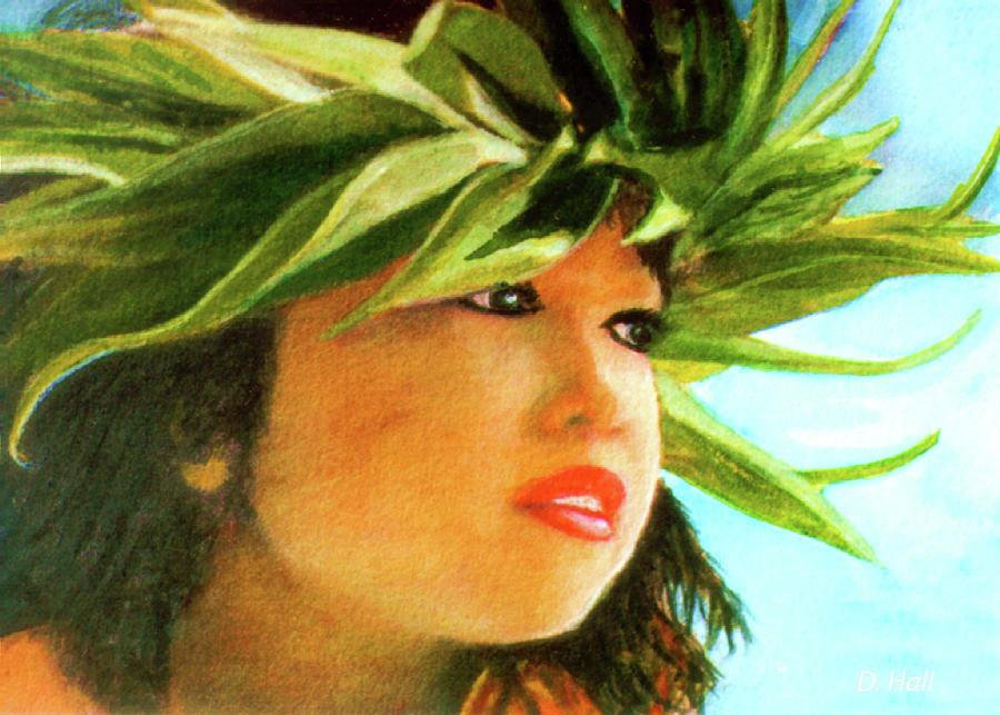 Keiki Painting - Child Keiki In Hawaiian No# 84 by Donald k Hall