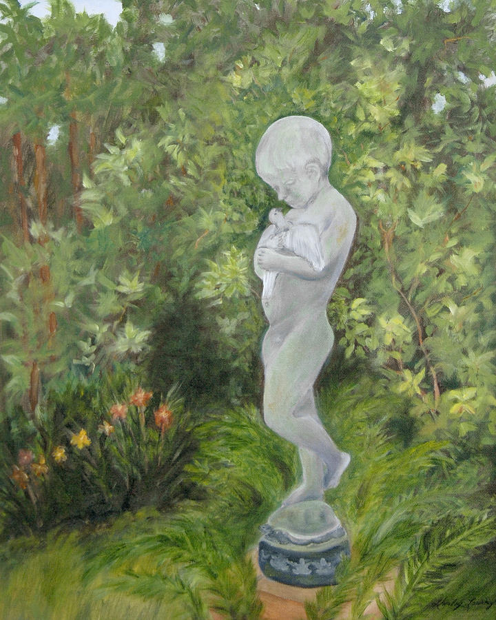 Child Of Peace As In Brookgreen Gardens Painting by Shirley Lawing