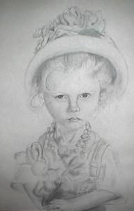 Child Drawing - Child Portrait by Lacey Inman