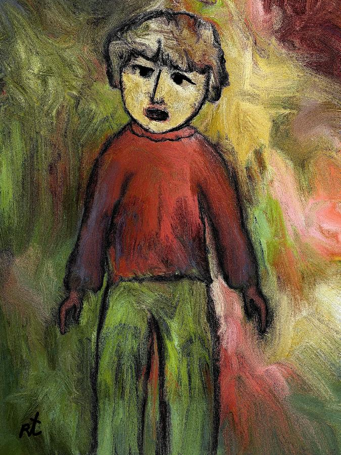 Child Painting - Child by Rafi Talby