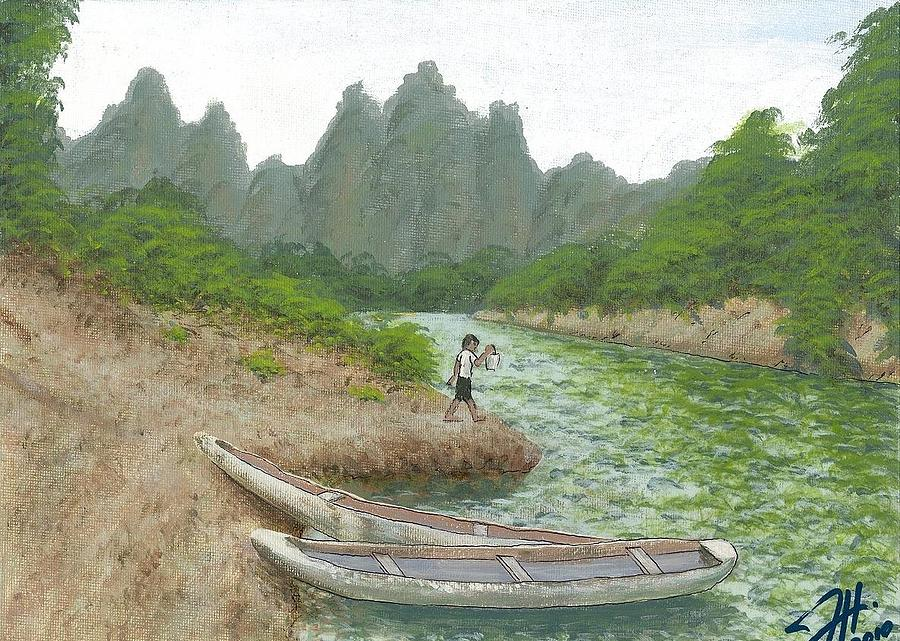 Landscapes Painting - Childhood by Dave Herrling