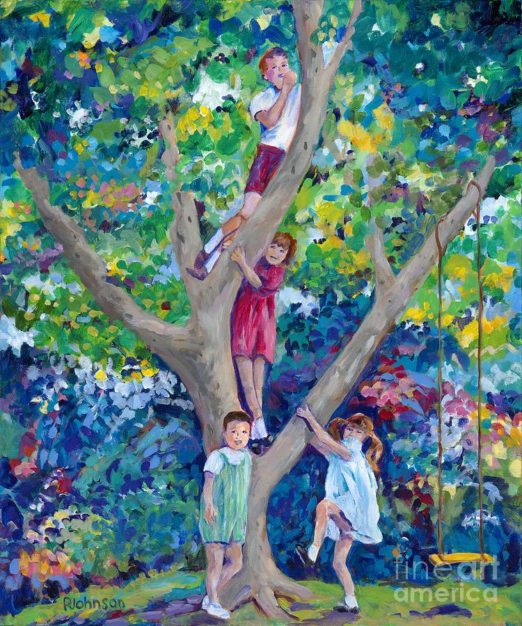 Childhood Memories Painting by Peggy Johnson