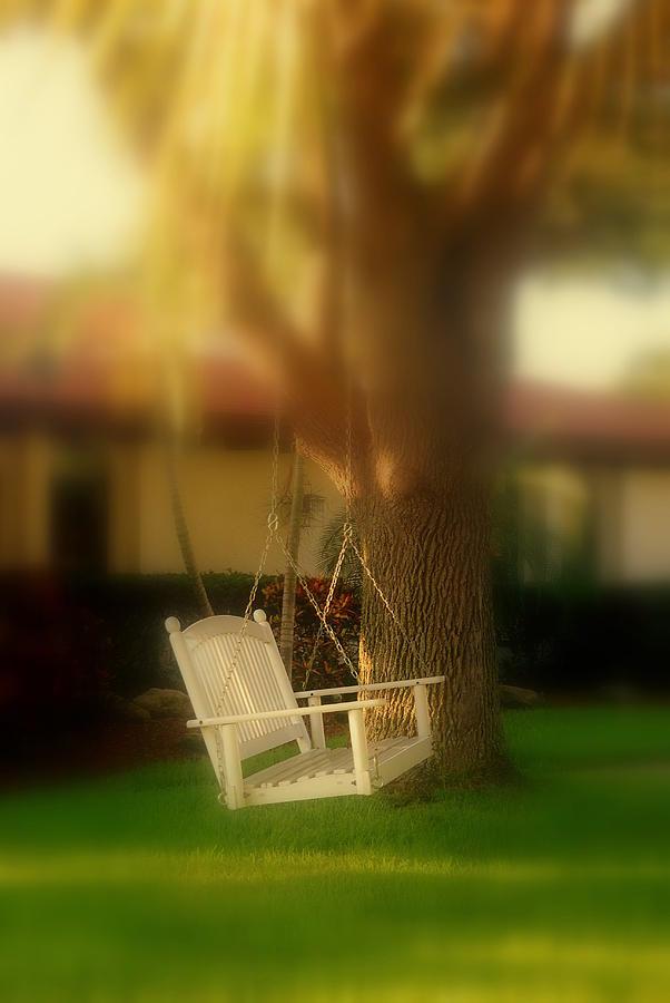 Swing Photograph - Childhood Memories by Susanne Van Hulst