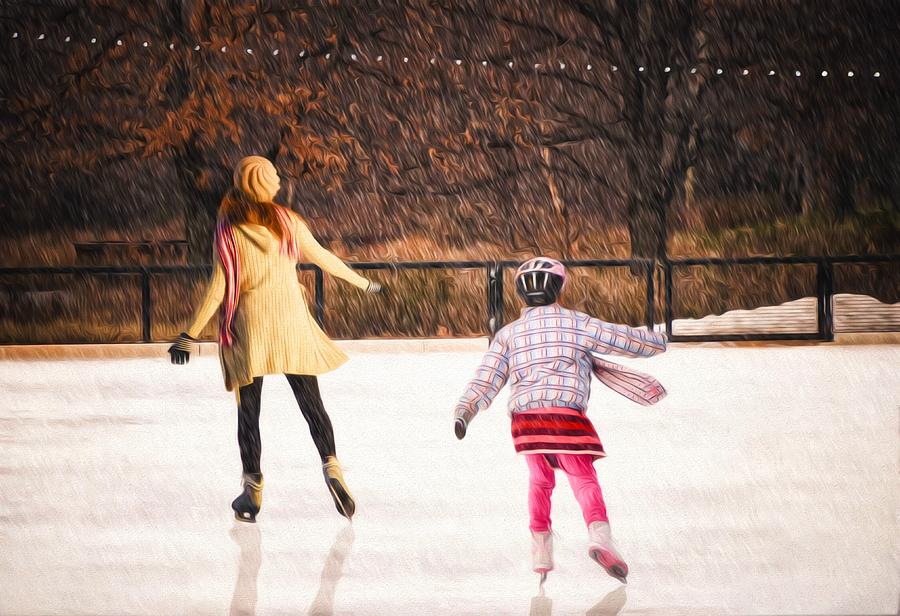 Winter Wonderland Photograph - Childhood by Steven  Michael