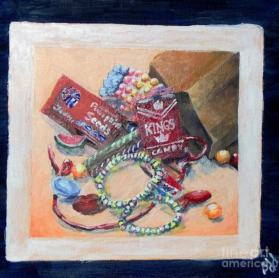 Candy Painting - Childhood Treasure by Saundra Johnson