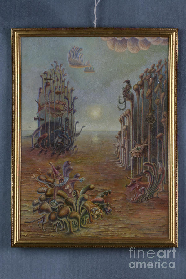 Surrealism Painting - Childhood Youth And Maturity Of An Artist by Denis Hmylnin