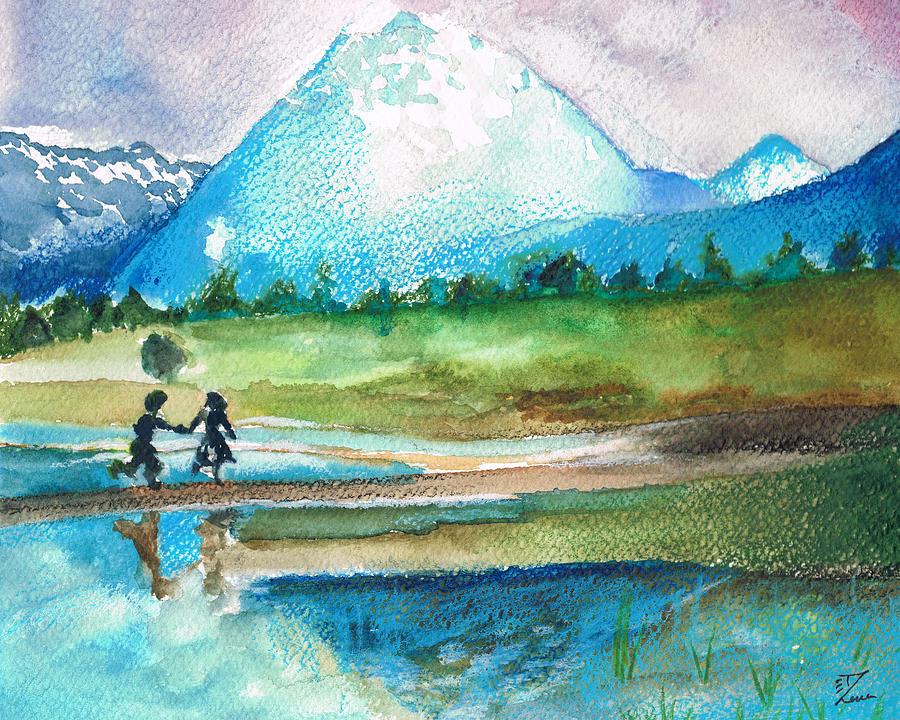Watercolor Painting - Childhood by Zara GDezfuli