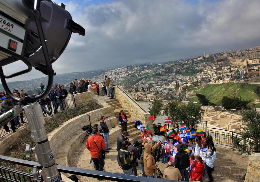 Jerusalem Photograph - Children Call For Peace. Jerusalem. Mount Of Olives by Zoriy Fine