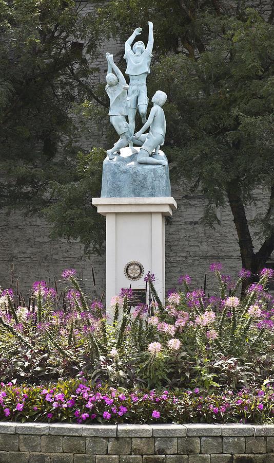 Sculpture Sculpture - Children Of Hope Wide Shot by Michael Rutland
