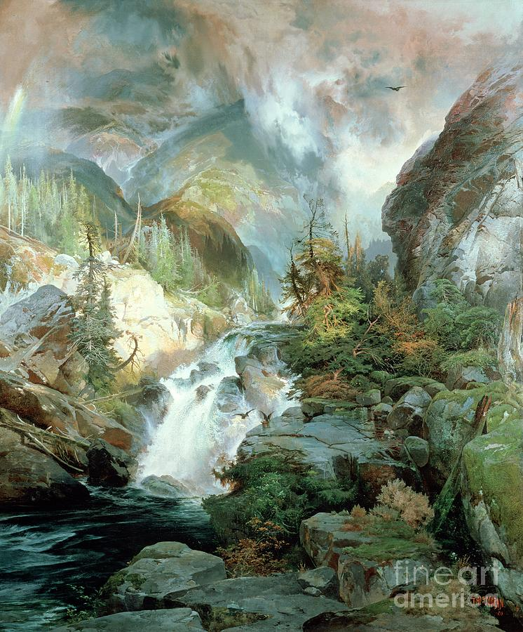 Moran Painting - Children Of The Mountain by Thomas Moran