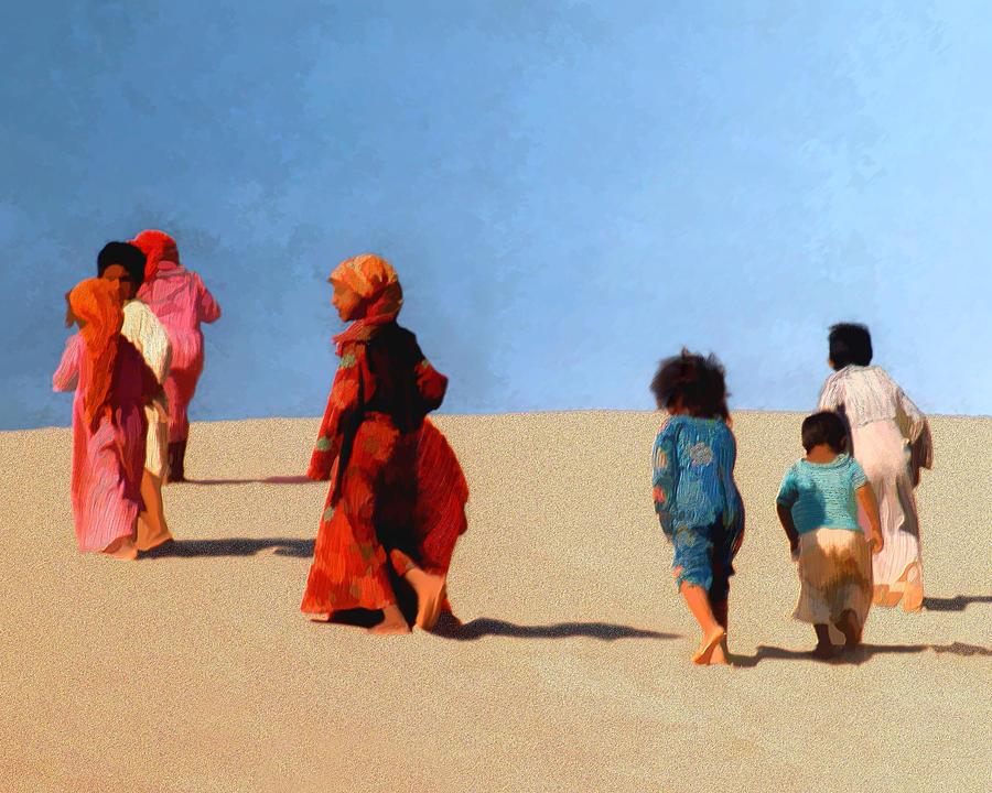 Children Photograph - Children Of The Sinai by Kurt Van Wagner