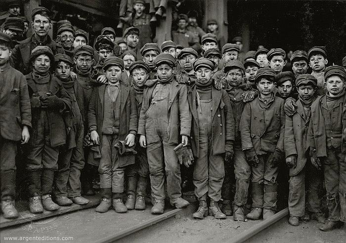 Children working in coal mine Lewis Hine photo  unknown location c. 1910  by David Lee Guss