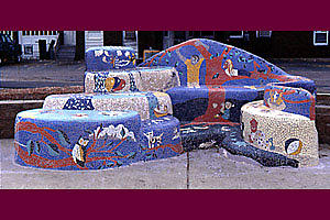 Childrens Bench Mixed Media by Jack Walsh