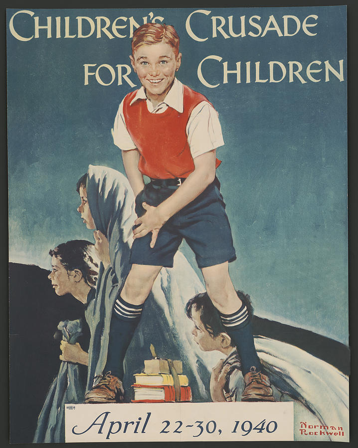 Norman Rockwell Painting - Childrens Crusade For Children by Norman Rockwell