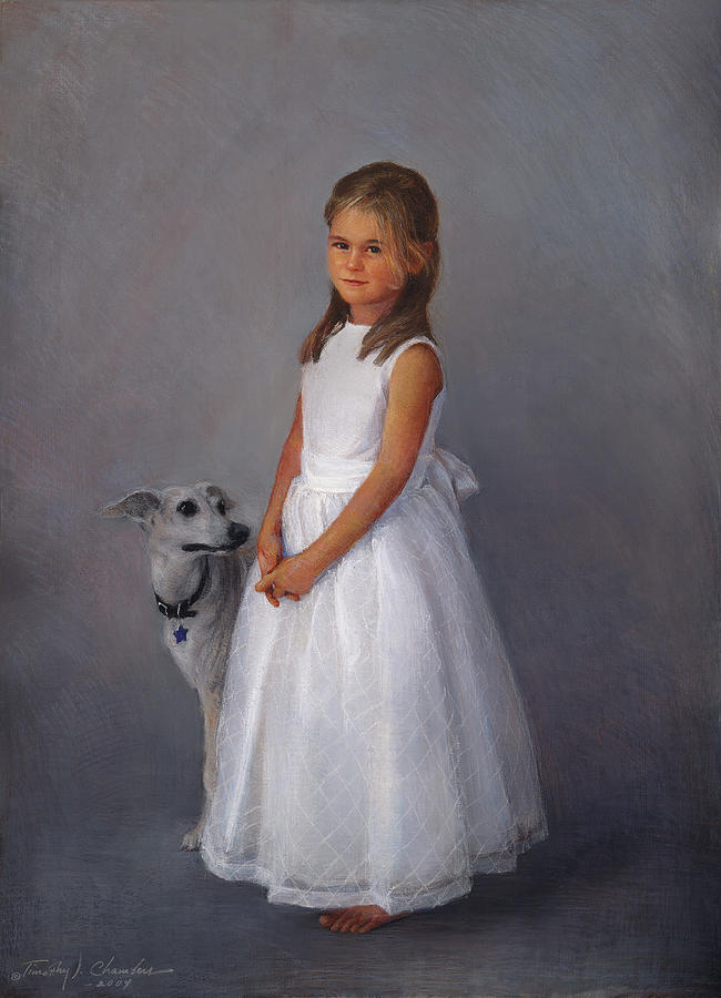 Childrens Full Figure Portrait Painting By Timothy Chambers