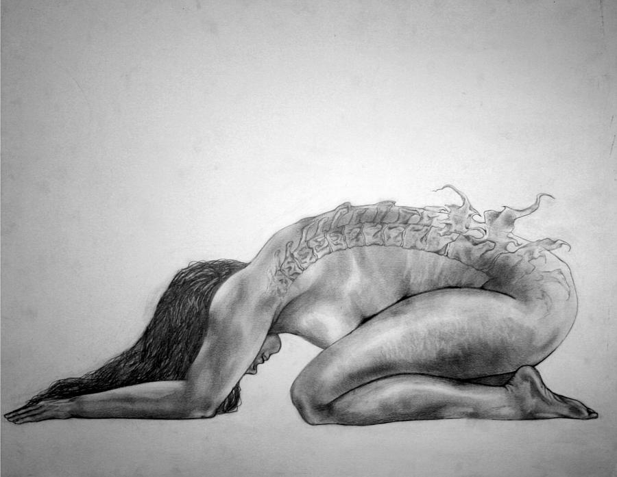 Nude Yoga Drawings