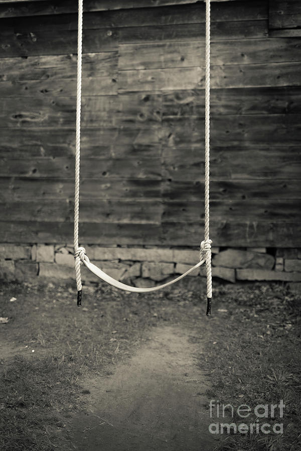 New Hampshire Photograph - Childs Swing On An Old Farm by Edward Fielding