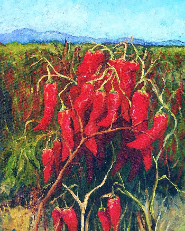 Landscape Painting - Chile Field by Candy Mayer