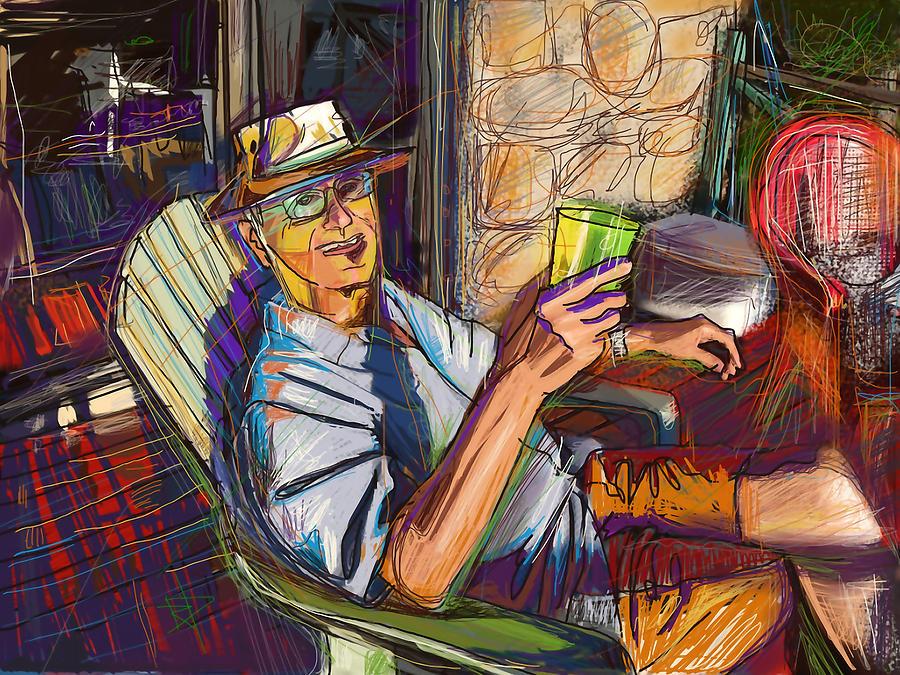 Relaxing Digital Art - Chillin by Russell Pierce