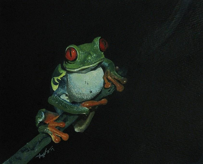 Frog Painting - Chilling by Richard Ong