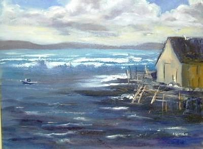 Chilly Waters Painting by Barbara Elmslie