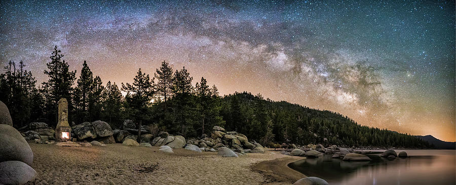 Astrophotography Photograph - Chimney Beach With Milky Way by Tony Fuentes