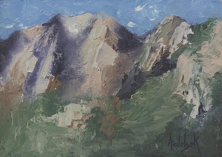 Deserts Painting - Chimney Rock by Barbara Andolsek