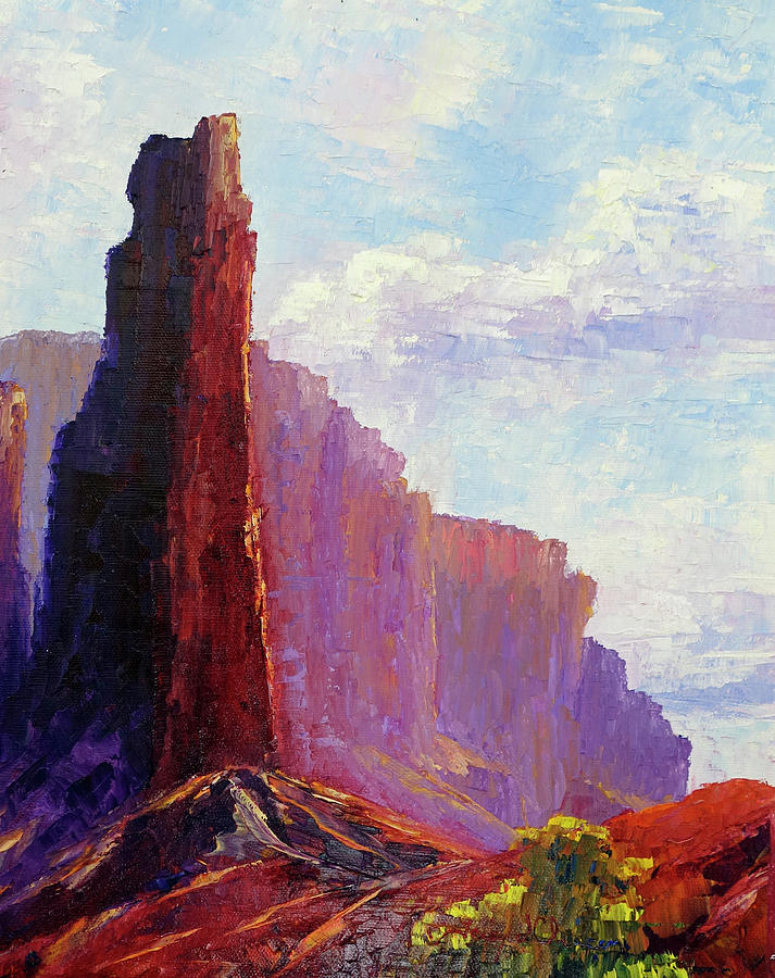 Chimney Rock, Capitol Reef National Park by Terry Chacon