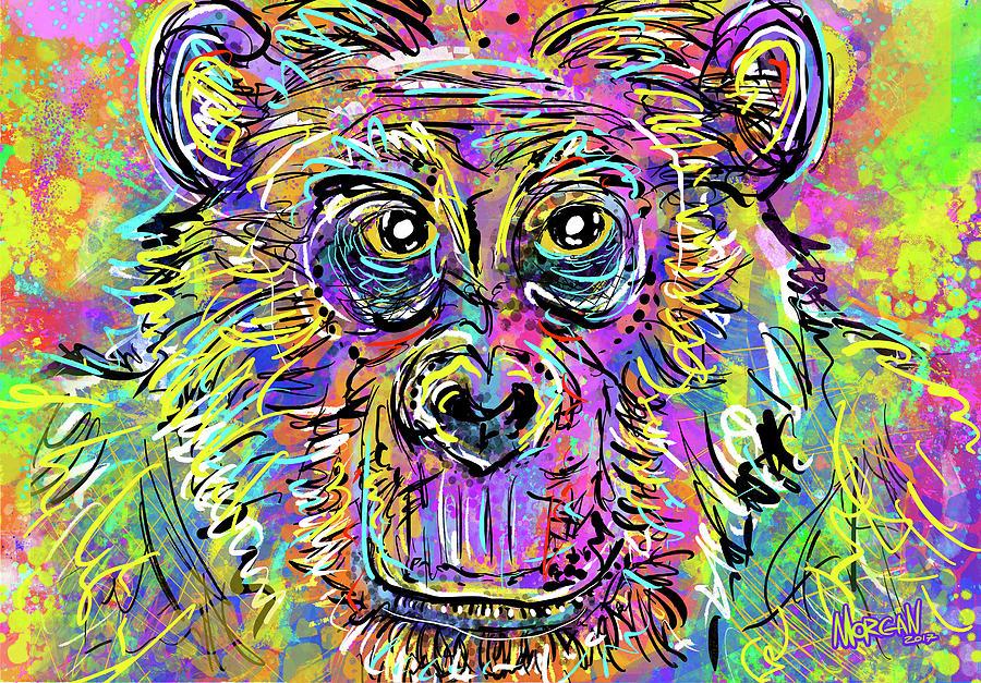 Elephant Digital Art - Chimp by Morgan Richardson