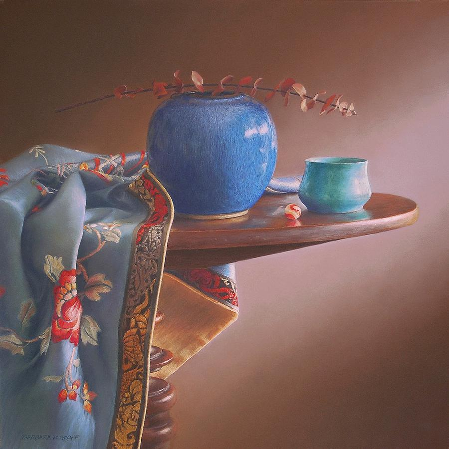Still Life Painting - China Blues by Barbara Groff