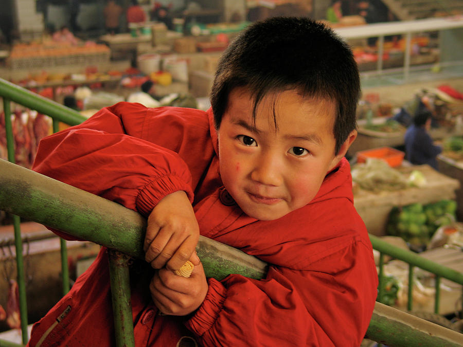 China Boy in Red by Richard Lund