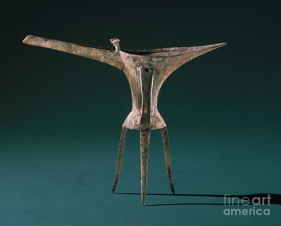 Ancient Photograph - China: Bronze Pitcher by Granger
