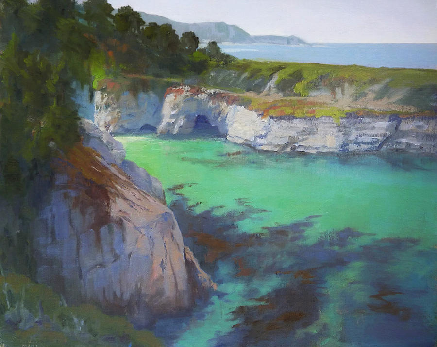 Monterey Painting - China Cove by Sharon Weaver