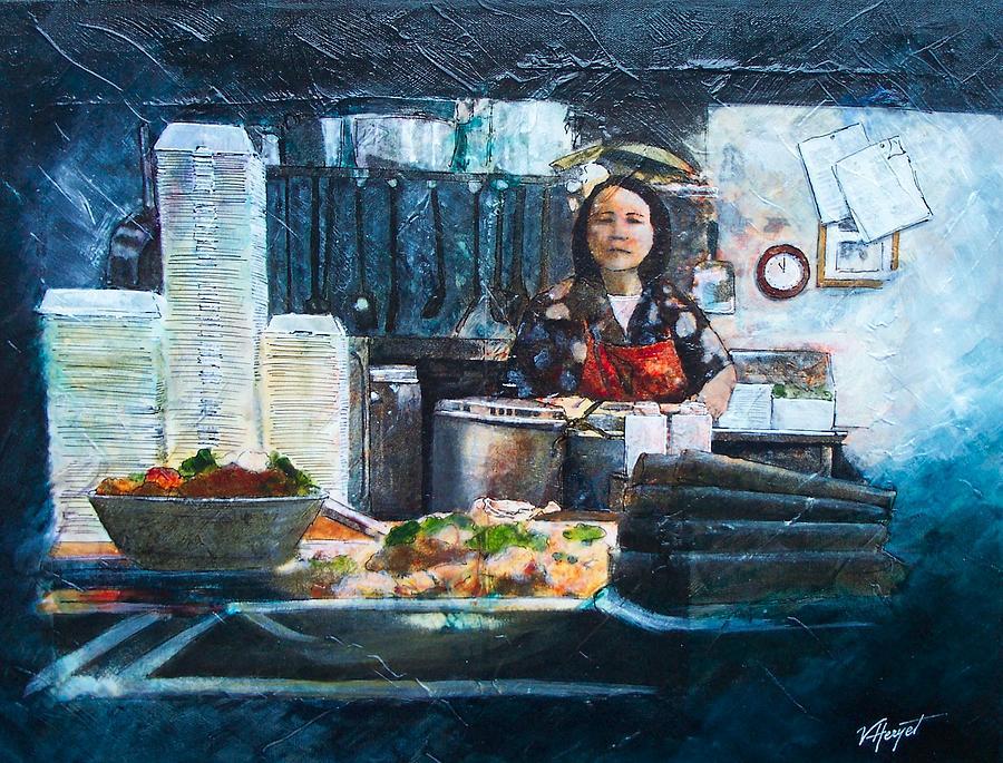 Chinese Painting - China Kitchen by Victoria Heryet