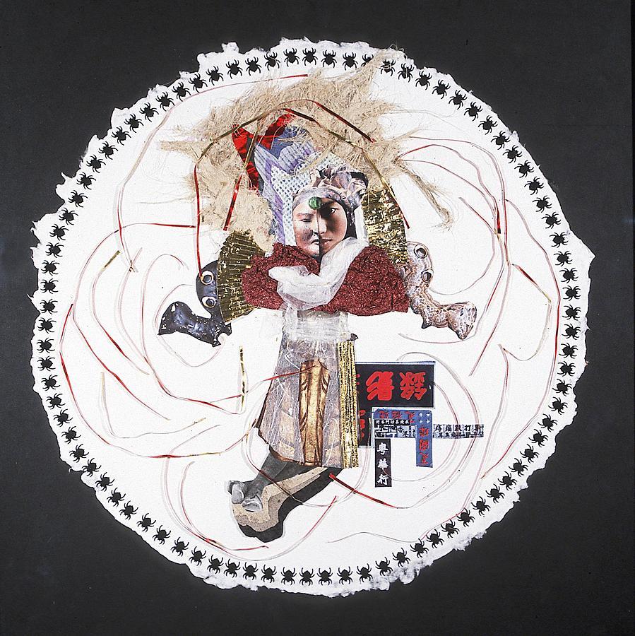 Mandala Mixed Media - China Moon-muse by France Garrido