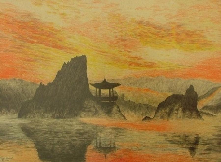 China Drawing - China Sea by Dan Hausel