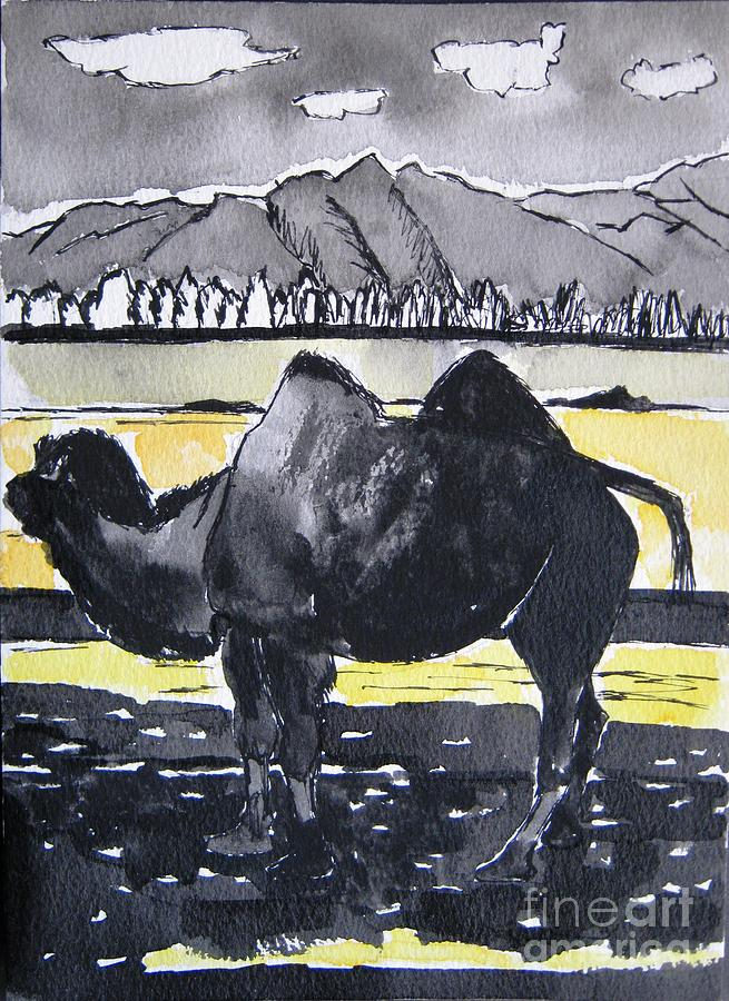 Animal Painting - China Silk Road by Lesley Giles