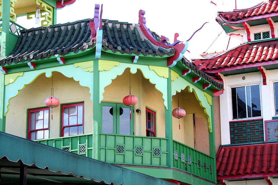 Buildings Photograph - China Town La by Shelly Davis