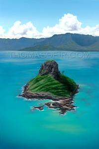 Hawaii Painting - Chinamans Hat by Thomas Deir