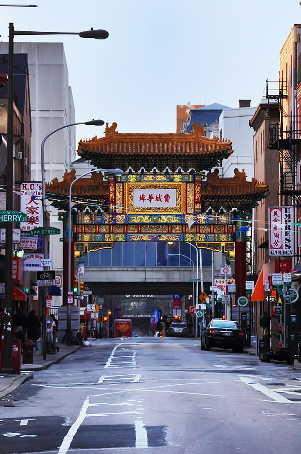 Chinatown Photograph - Chinatown - Philadelphia by Bill Cannon