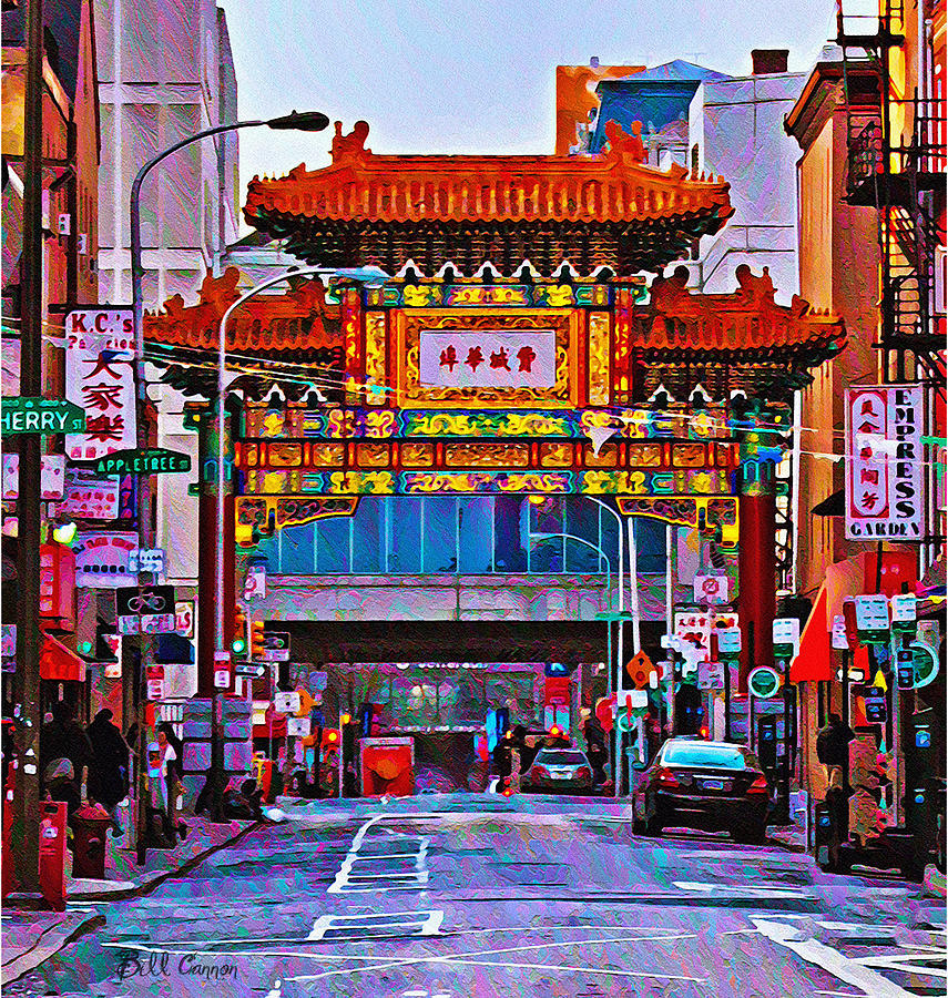 Chinatown Photograph - Chinatown Arch Philadelphia by Bill Cannon
