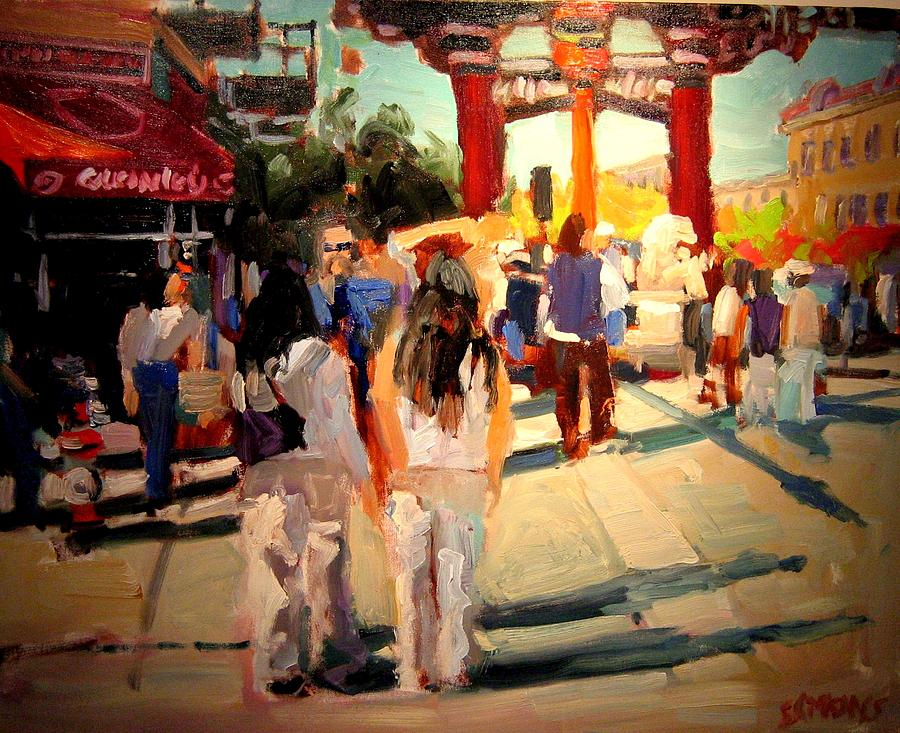 Landscape Paintings Painting - Chinatown by Brian Simons