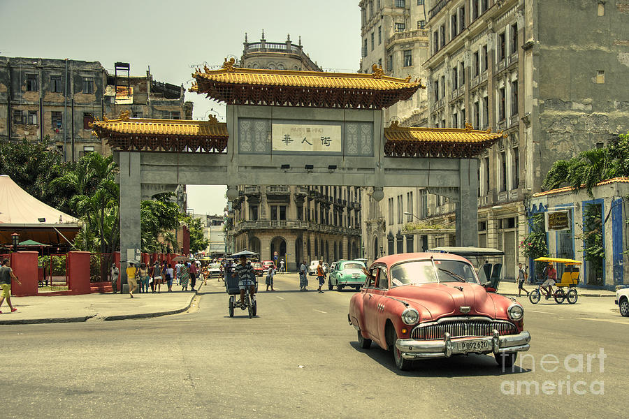 Chinatown Photograph - Chinatown Chevy  by Rob Hawkins