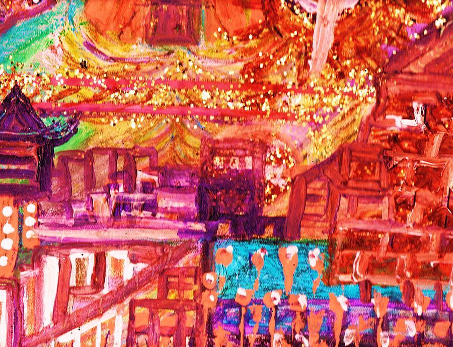 Chinatown Mixed Media - Chinatown II by Anne-Elizabeth Whiteway