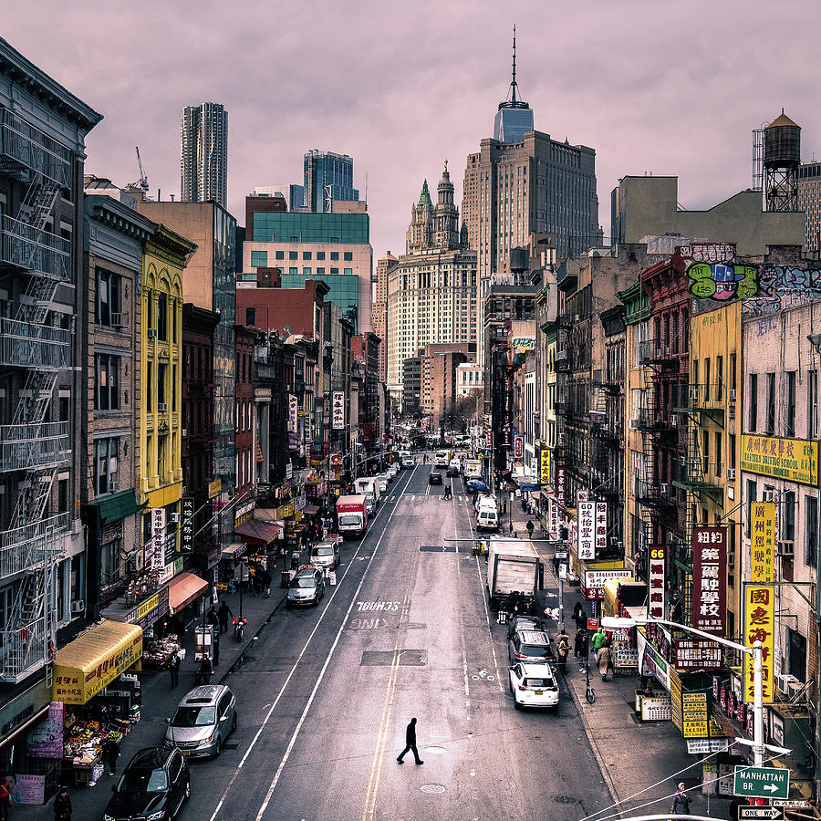 Manhattan Streets: Color Street Photography Photograph