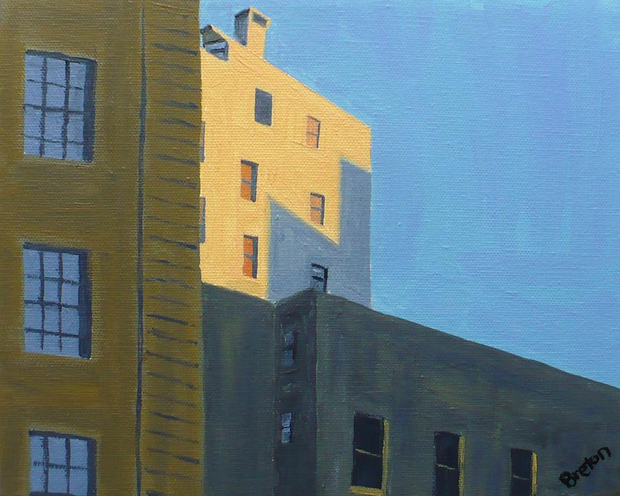 Cityscape Painting - Chinatown Shadows by Laurie Breton